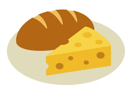 Cheese on dish and bread