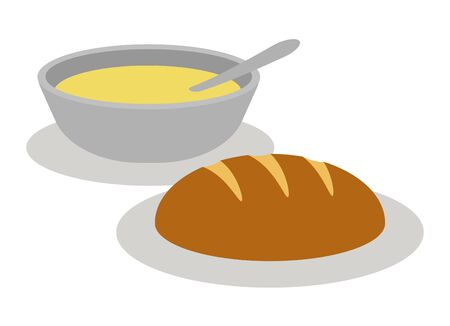 Bread and soup Stock Photo