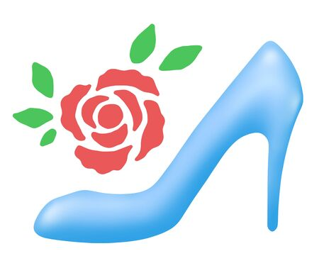 Glass shoes and roses