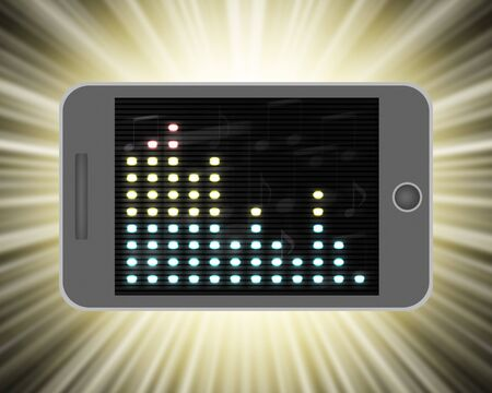 Sound wave reflected on the screen of the smartphone