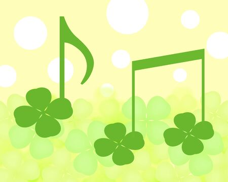 Clover shaped note