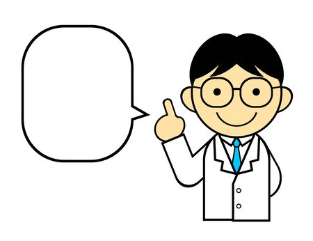 Speech bubble with doctor character 写真素材