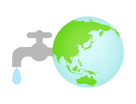 Faucet connected to the earth