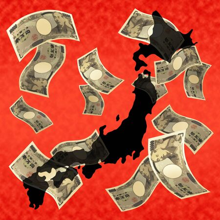 Image of a Japanese economic crisis 写真素材