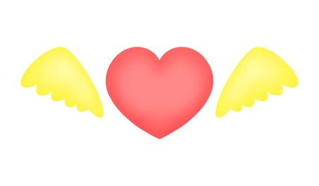 Heart symbol with wings