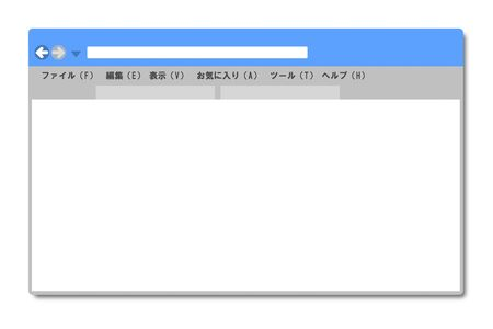 Browser not showing anything 写真素材