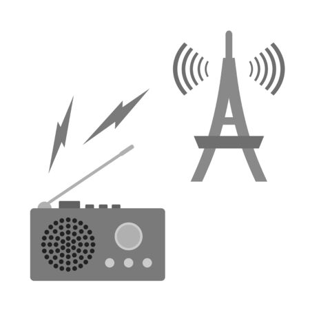 Radio and radio tower mark