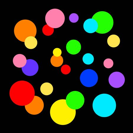 Colorful polka-dotted background