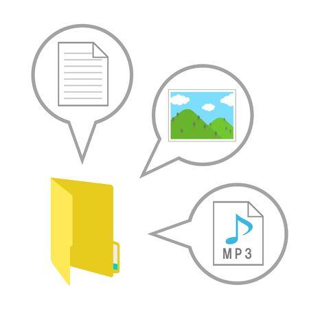 Data file in folder 写真素材