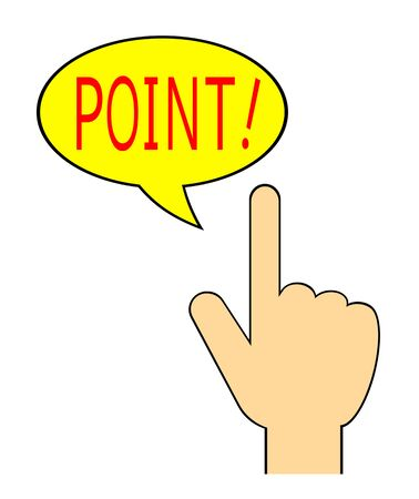 Hand mark and Point