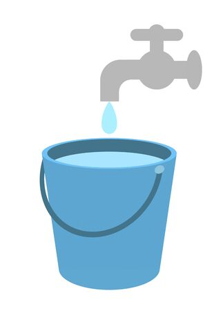 Water collects in the bucket
