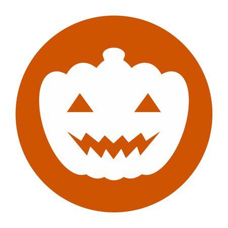 Mark of halloween pumpkin