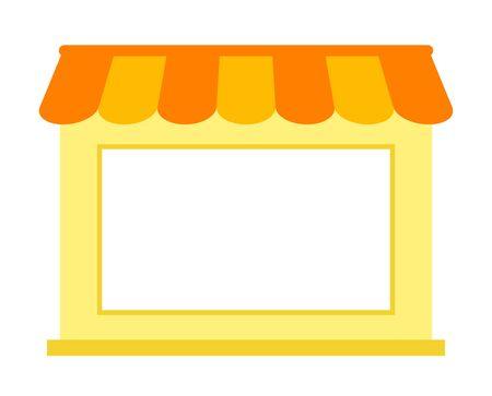 Big window of the store 写真素材