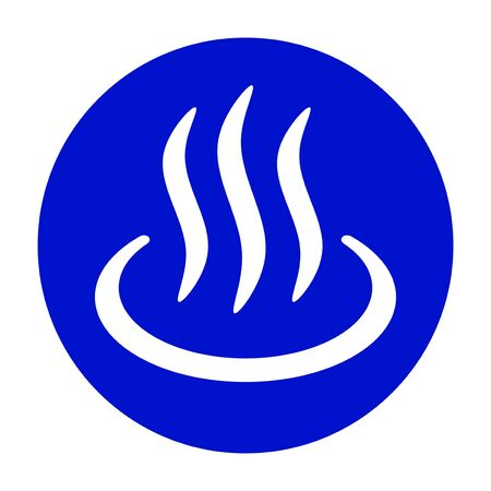 Blue hot spring mark
