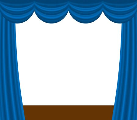 Blue stage curtain 免版税图像
