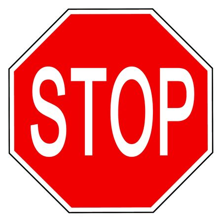 STOP is written on the octagonal sign