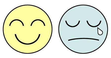 Smile and crying face Reklamní fotografie