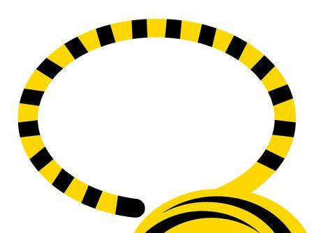 Tiger tail frame Reklamní fotografie