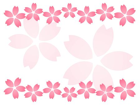 Pink cherry blossom frame material