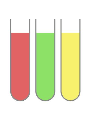 Three test tubes filled with liquid