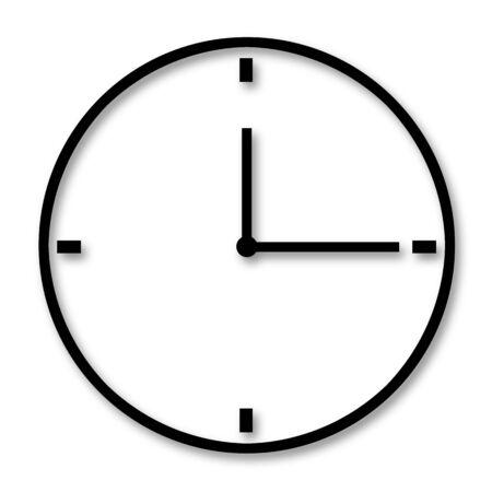 Analog clock pointing to three oclock Reklamní fotografie