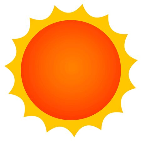 Simple orange sun icon material