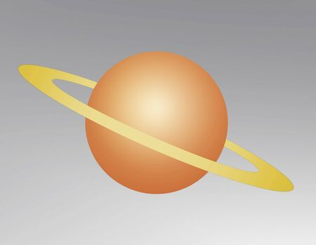 Saturn floating in outer space