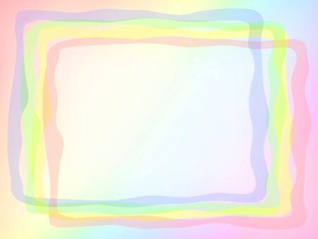 Several different color frames overlap