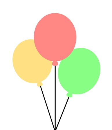 Three differently colored balloons are floating 版權商用圖片