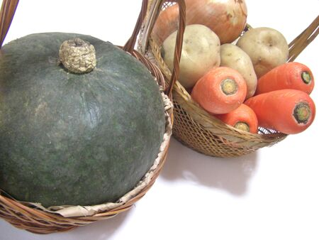 Various types of vegetables are in the basket