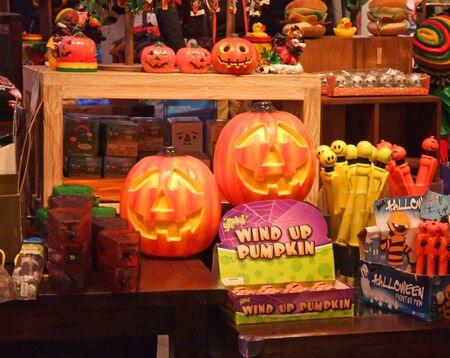 It is a sales floor for Halloween goods