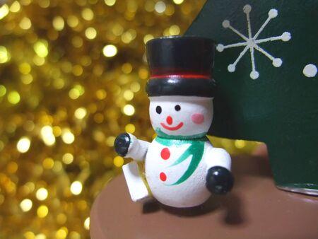 Wooden cute snowman ornament