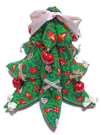 Christmas tree made of cloth