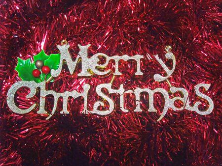 Merry Christmas Letter Shape Ornament