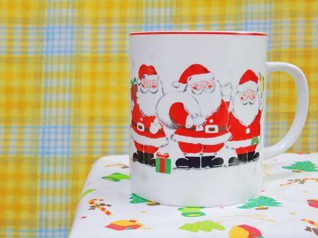 A mug with a illust of Santa Claus