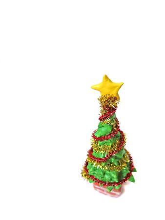 Small christmas tree made of clay Stockfoto
