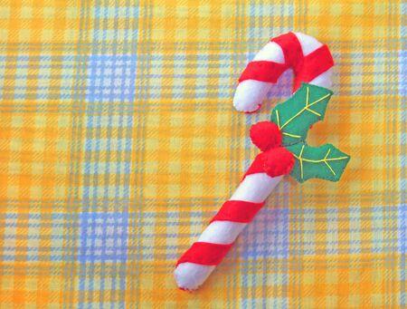 Christmas stick made of felt Stockfoto