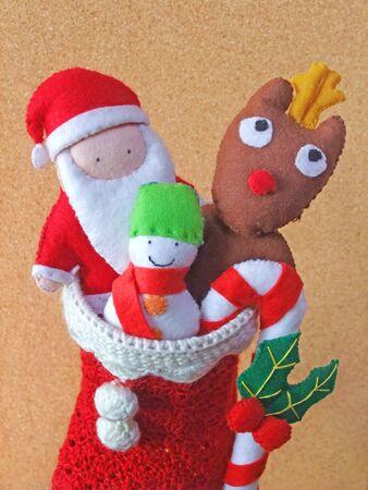 Santa Claus, Reindeer and Snowman Mascot
