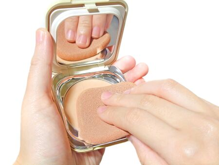 Using a foundation that is in a compact