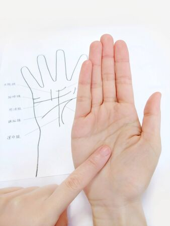 Check palm reading compared to chart