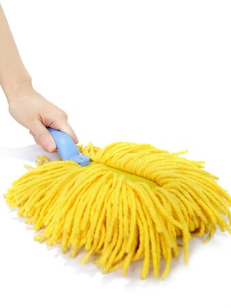 Clean with a handy mop in hand