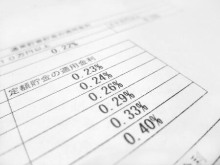 List of interest rates for fixed savings 写真素材