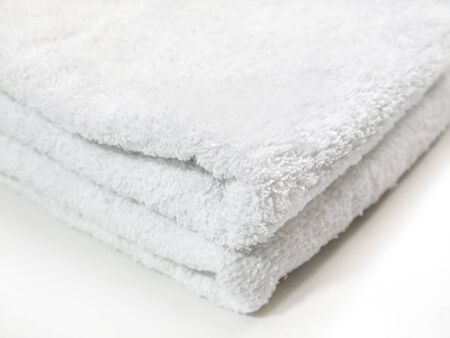 Clean towels are folded and placed Banco de Imagens