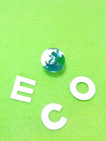 Glass Earth and ECO characters Banco de Imagens