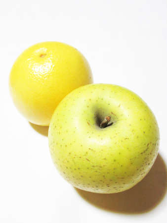 Green apple and grapefruit