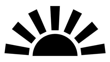 The rising sun Stock fotó