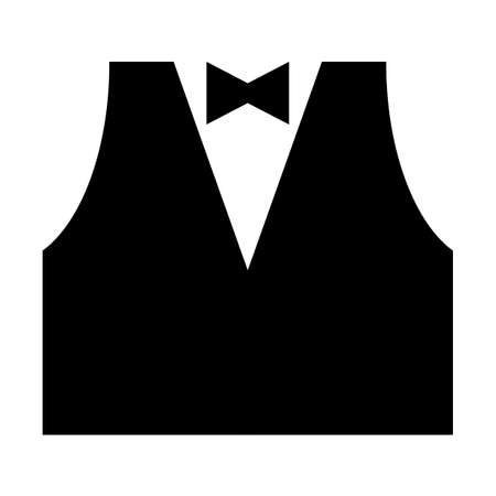 Black tie vest mark