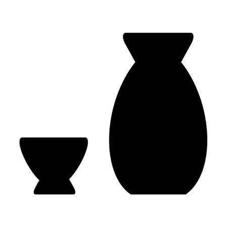 Liquor container silhouette Stock fotó