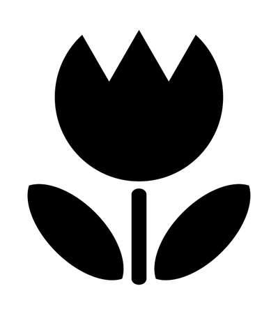 Tulip silhouette Stock fotó