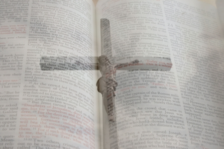 crucifiction: Crucifiction submersed inside the bible